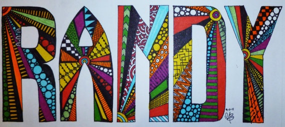 Hand drawn. Abstract, Customize Name. Any Size. Any colors. $22.00