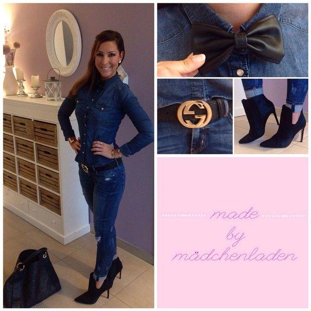 #mulpix Jeans Hemd  #HundM  Jeans  #Zara Stiefeletten  #Zara Gürtel  #Gucci  Tasche  #LV Fliege: Haarschmuck  #HundM
