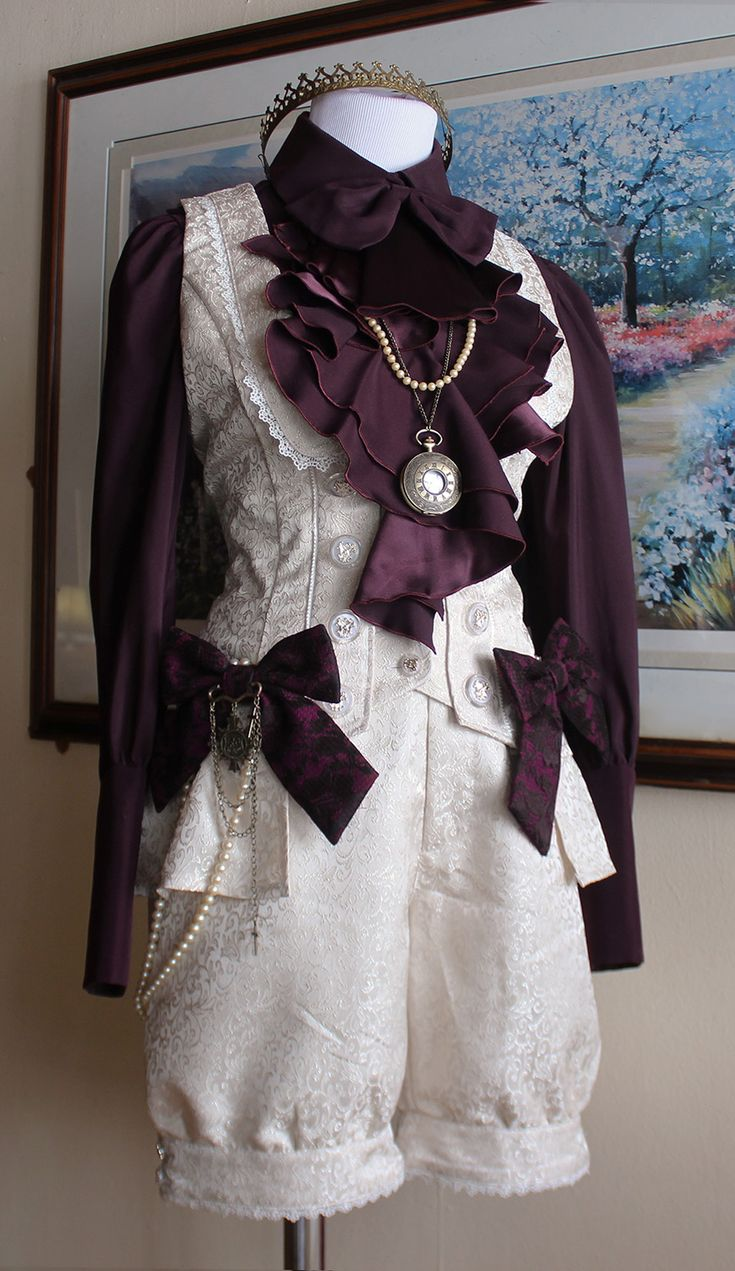 """alastairscarborough: """" Vest+Shorts: Dear Celine Blouse: Atelier Boz Bows: Alice and the Pirates Crown: Voodooodolly Waist chain: Self made Necklaces: thrifted/bodyline This was supposed to be a..."""