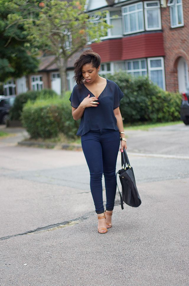 I love an all navy ensemble // Via MEEK~N~MILD | By Shirley B. Eniang: Monochrome Navy