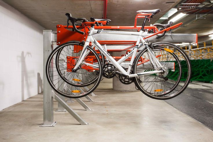 PUSHBIKE TRACK - The design uses a patented combination of nose to tail holding, dual staggering and a rolling mechanism #bikerack #pushbike #makecyclingeasy #cycling #endoftrip