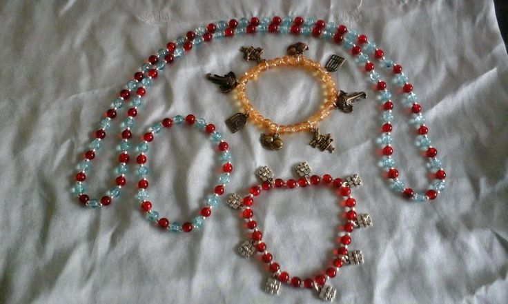 One HandMade Necklace And Three Bracelets