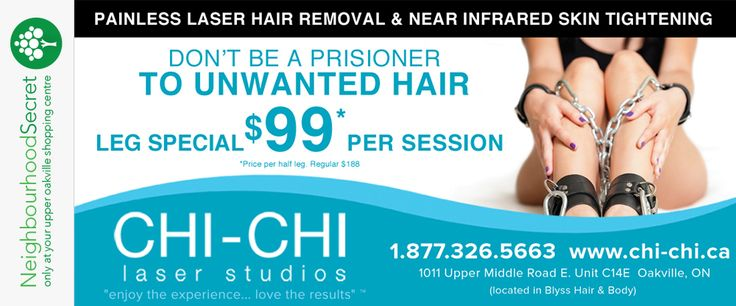 Don't be a prisoner to unwanted hair. Get your coupon at neighbourhoodsecret.net #Oakville #ShopLocal