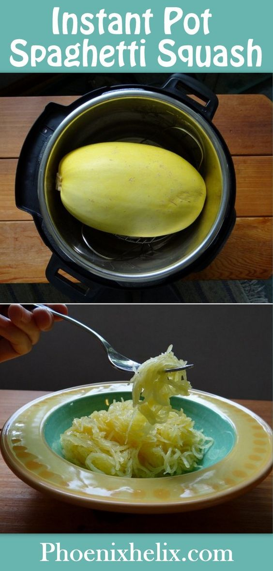 IP  Spaghetti Squash | pressure cook for 25 min WHOLE!!! or 10 min if cut to halves.