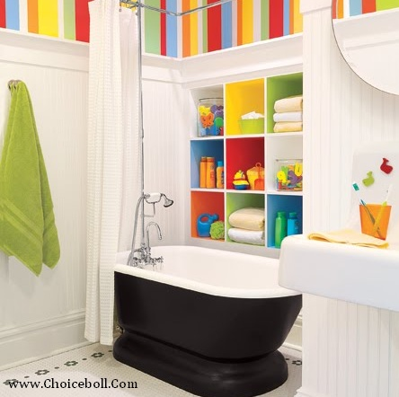 Love The Rainbow Of Colors Kid Bathroom
