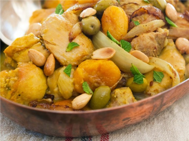 """Moroccan chicken tagine from """"the family dinner"""" cookbook by laurie david with recipes by kirstin uhrenholdt"""