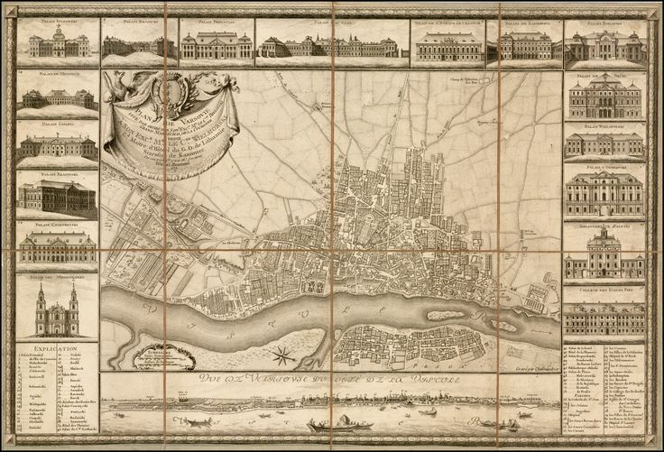 Map of Warsaw (1772)