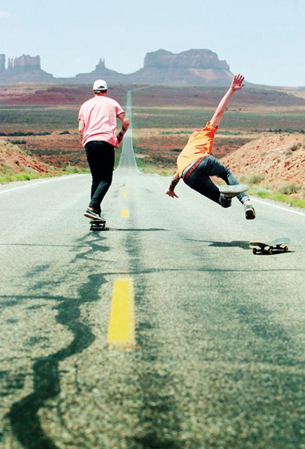 Skating in the Nevada