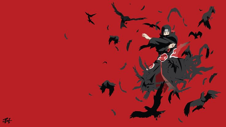 Itachi Uchiha (Naruto) Minimalist Wallpaper by slezzy7 on DeviantArt