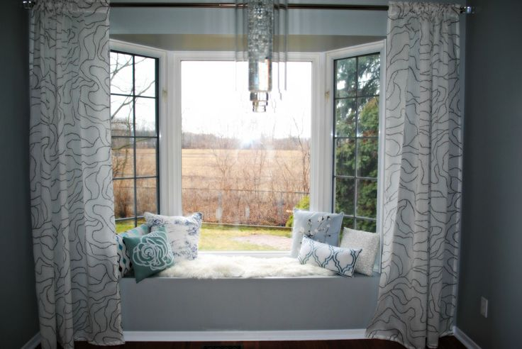 How To Fit Curtains For Bay Windowsextraordinary Alluring