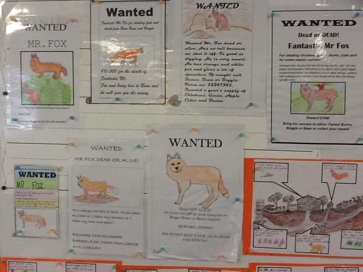 Wanted posters for Fantastic Mr Fox | 5th Grade ...