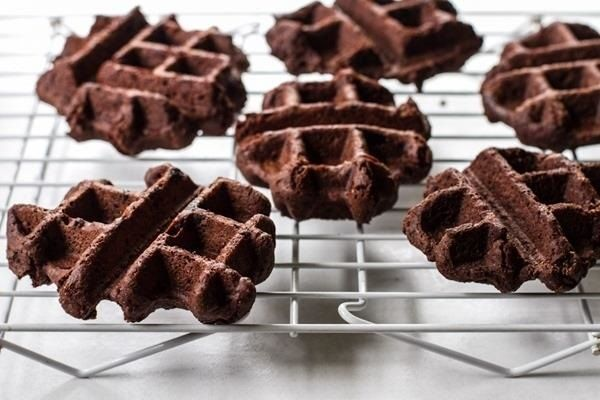 Brownie Waffles  Mix up a batch of brownies from your favorite recipe or mix and pour the batter into your waffle maker. You can make a few full-size waffles, or a bunch of mini ones like these.
