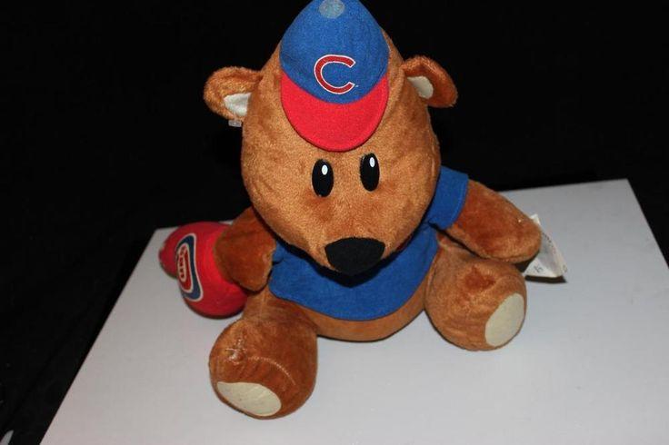 CHICAGO CUBS #1 Finger Plush Bear Genuine MLB Merchandise  1980's large #GenuineMLBMerc #ChicagoCubs