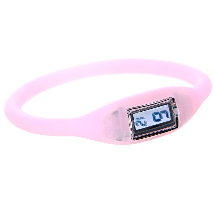 Silicone Rubber Anion Sports Bracelet Wrist Watch Sales Online rose - Tomtop.com