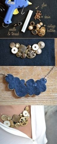 DIY statement necklace - Click image to find more diy & crafts Pinterest pins