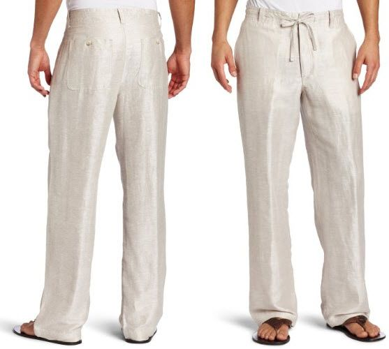 Beach Linen Clothing for Men | mens drawstring beach pants pictured perry ellis men s twill