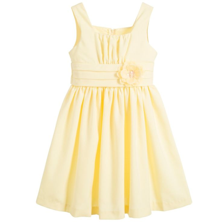 Bonnie Jean SS 2016 ***  Yellow Dress with Flower at Childrensalon.com