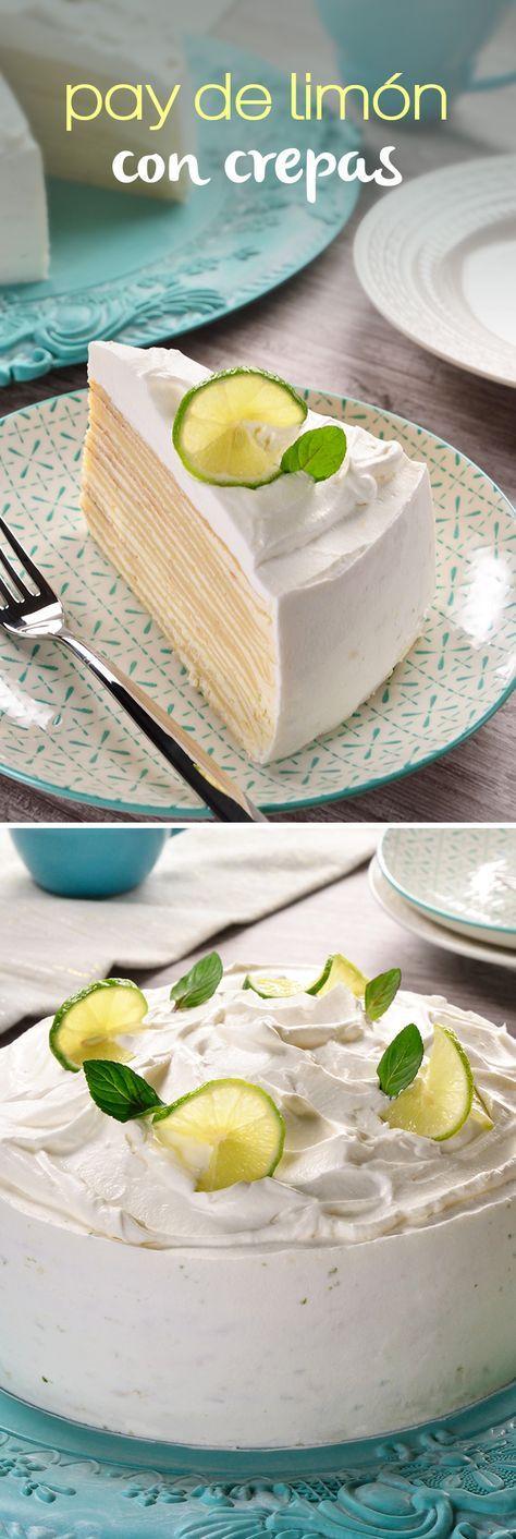 Convertimos tu pie de limón favorito en un pastel de crepas. Un postre sin horno muy fácil preparado con una crema de limón verde y leche condensada con un toque de ralladura de limón. Decóralo como tú quieras y sorprende a todos esta Navidad.