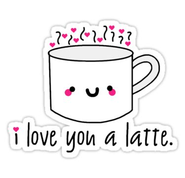Happy National Coffee Day!  coffee, espresso, lattes, starbucks, punny, love, i love you a latte, funny food