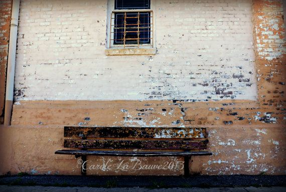 NEW ORLEANS BENCH at Rest ~ New Orleans, Louisiana ~ Fine art Photograpy ~ Bus Stop ~