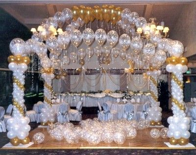 New 100 39 balloon arch strip wedding bridal birthday party for Arch decoration pictures