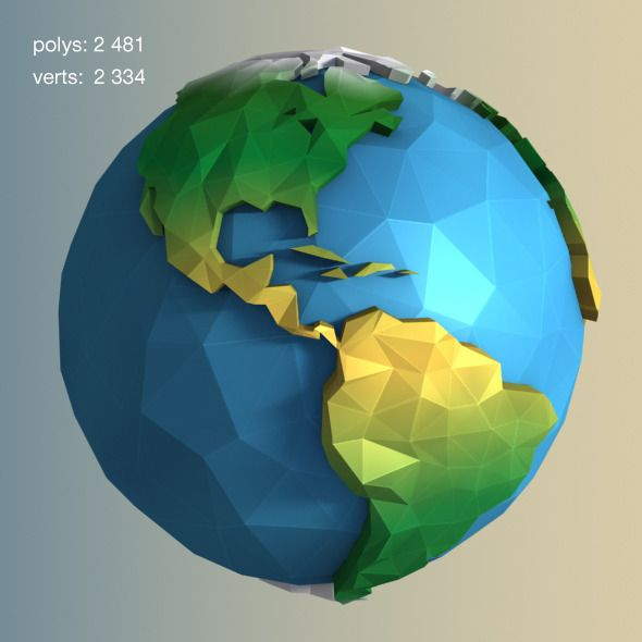 Image result for 3d worlds planets poly More Más