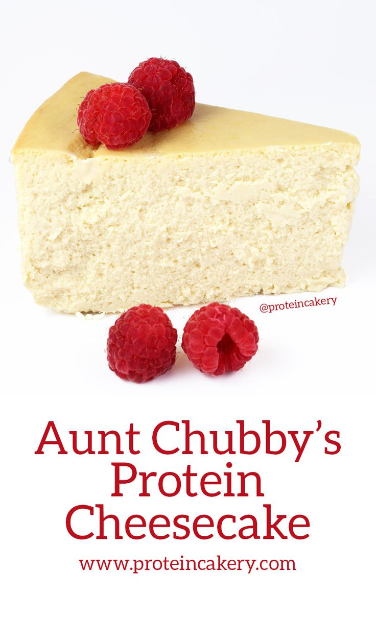 Aunt Chubby's Protein Cheesecake - high-protein, low-carb - Andréa's Protein Cakery