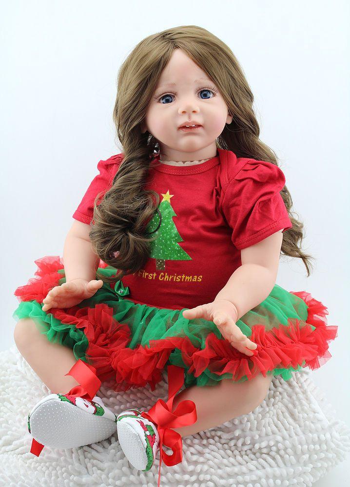 Reborn Baby Dolls Toddler Toy Soft Vinyl 24 inch Lifelike Baby Dolls for Sale