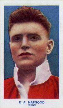 1939 R & J Hill Famous Footballers Series 1 #6 Eddie Hapgood Front