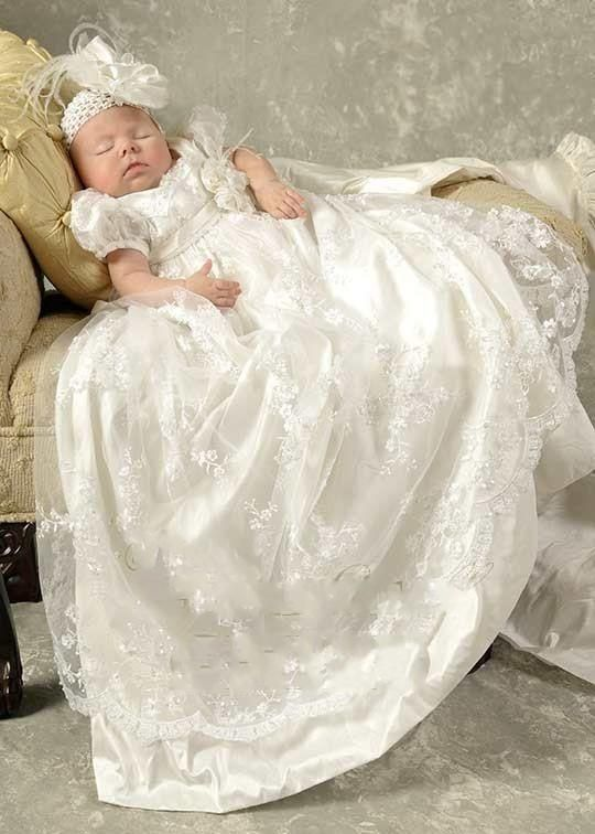 Princess White Lace Baby Christening Dresses Kids Baptism Gowns Short Sleeves Vintage Baby Girls And Boys Christening Gowns From Blissbridal, $82.73 | Dhgate.Com