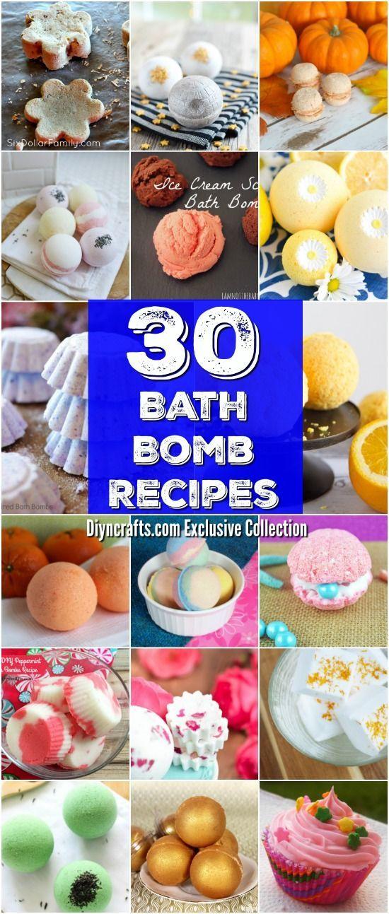 30 Easy Homemade Bath Bomb Recipes