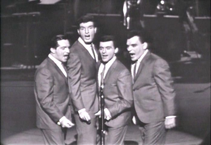 "The Four Seasons (Tommy DeVito, Bob Gaudio, Frankie Valli, and Nick Massi) on ""The Steve Allen Show"" 2/1963"
