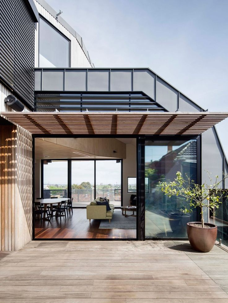 Best 25 zinc roof ideas on pinterest modern barn for Outer space design melbourne