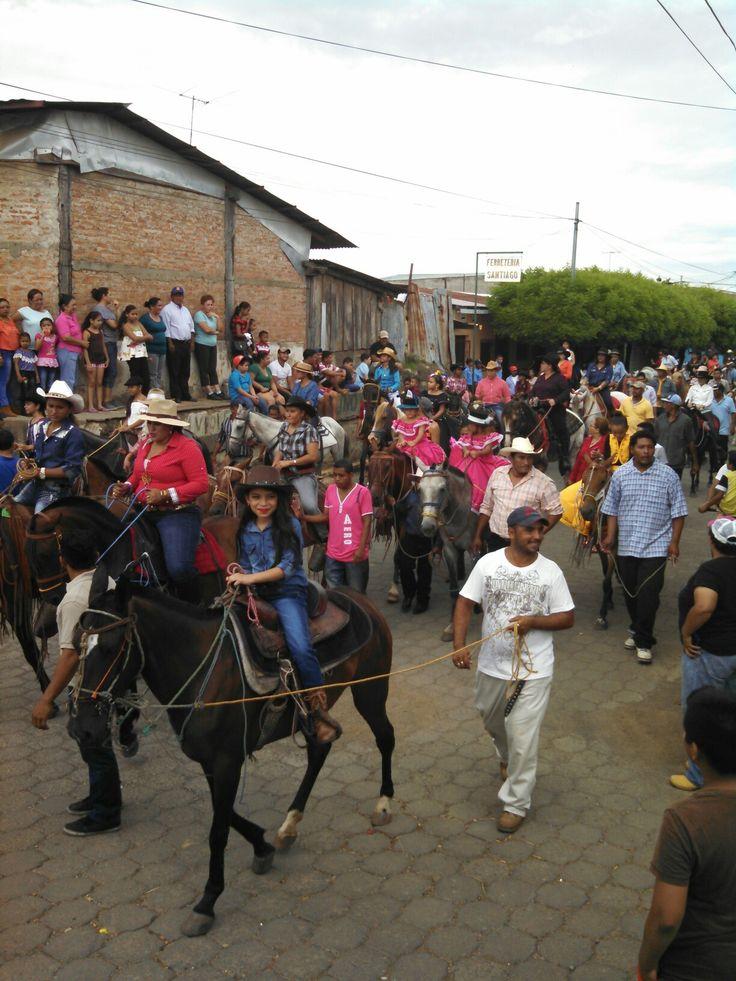 Rodeo parade in nagarote