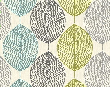 Feature wallpaper by Arthouse Opera Retro Leaf Teal/Green 408207 | eBay
