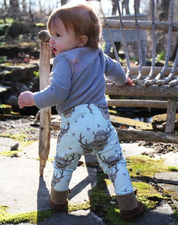 Baby legging Boy peuter Leggings Hipster herten Leggings | Etsy
