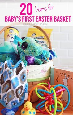 The 25 best babys first easter basket ideas on pinterest baby 20 items for babys first easter basket negle Images