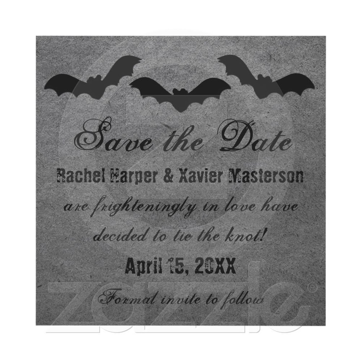 8 best Party Ideas images – Halloween Wedding Save the Dates