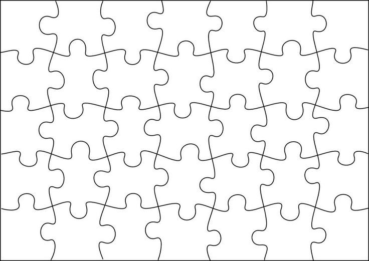 FREE PUZZLE TEMPLATE~  Glue on a picture and cut apart to make puzzles, enlarge and have each student decorate a piece, or use it any creative way you choose!