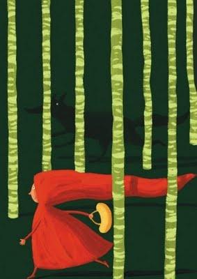 Little Red Riding Hood Cappuccetto Rosso, de Valeria Petrone illustrazioni illustration Attenti al lupo