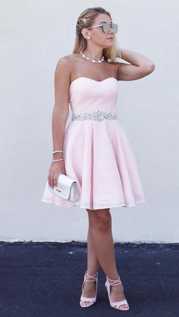 Pink Princess Ball Gowns Short