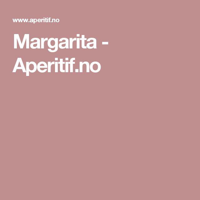Margarita - Aperitif.no
