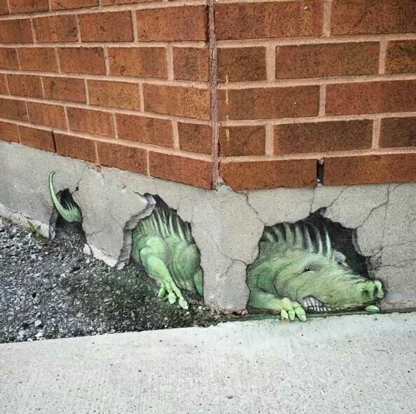 Amazing 3D street art by David Zinn.                                                                                                                                                                                 More