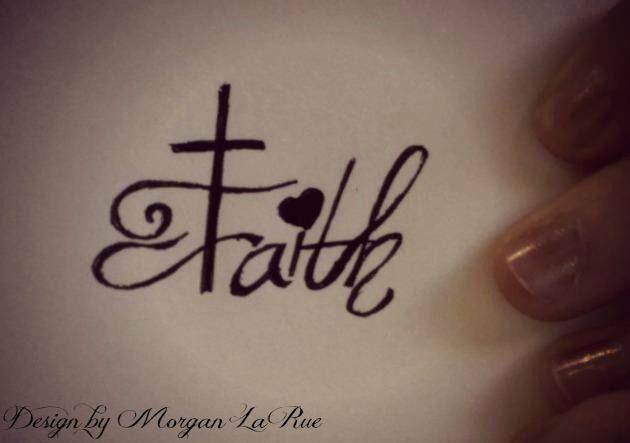 Faith Design. #tattoos #faith (incorporate an anchor somehow)