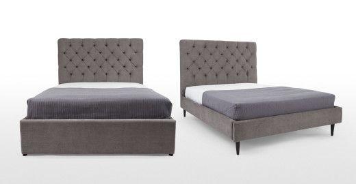 Skye divan bed in pewter £629
