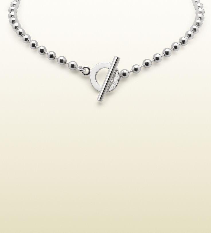 Gucci necklace with toggle closure at Keswick Jewelers in Arlington Heights, IL, www.keswickjewelers.com