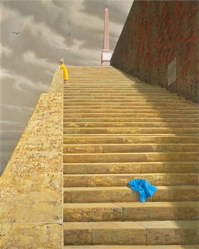 "Style ""Hyper-Realism"" - Jeffrey Smart  The Steps"