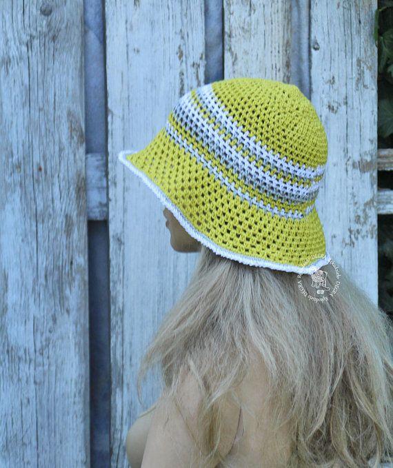 c50b8c98338 Summer Hat Pistachio sun Hat pastel cotton Cloche floppy