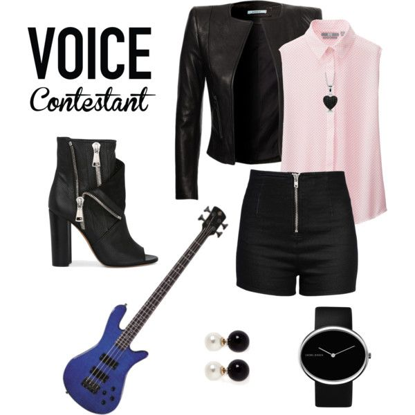 What Would You Wear to Compete on The Voice? II Contest by own-style on Polyvore featuring moda, Uniqlo, Love Moschino, Casadei, Georg Jensen, Kenneth Jay Lane, BERRICLE and realitytvstyle
