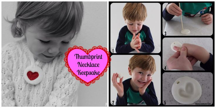 Thumb Print Necklace Keepsake! A gorgeous Valentine's Day gift made from the heart (and from household ingredients!)